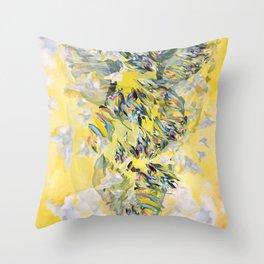 Yellow Flower Storm Throw Pillow