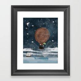 the big splash Framed Art Print