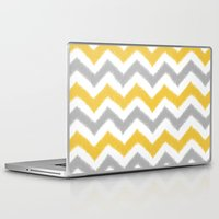 ikat Laptop & iPad Skins featuring Chevron IKAT by Patty Sloniger