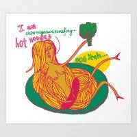 Foxy Noodles Art Print