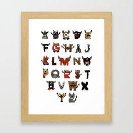 Alphabeast Framed Art Print