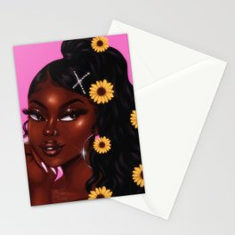chocolate x sunflower Stationery Cards