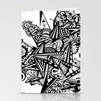 andreas preis Stationery Cards featuring Black geometry by Andreas Handgruber by Artometrie.com