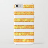 duvet cover iPhone & iPod Cases featuring Golden Glitter Stripes Duvet Cover by Corbin Henry
