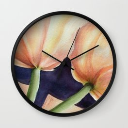 TWO TULIPS 4 U Wall Clock