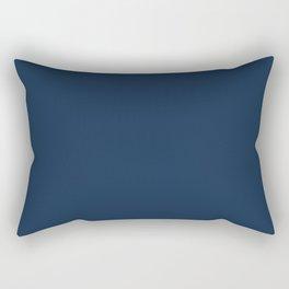 Dark Blue Modern Print Blue Wall Art, Minimal Art Printable Blue Home Decor, Livingroom Decor, Gift Rectangular Pillow
