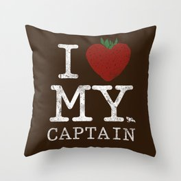 I Love My Captain Throw Pillow