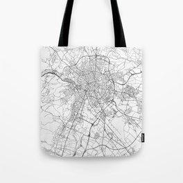 Dijon Map Line Tote Bag