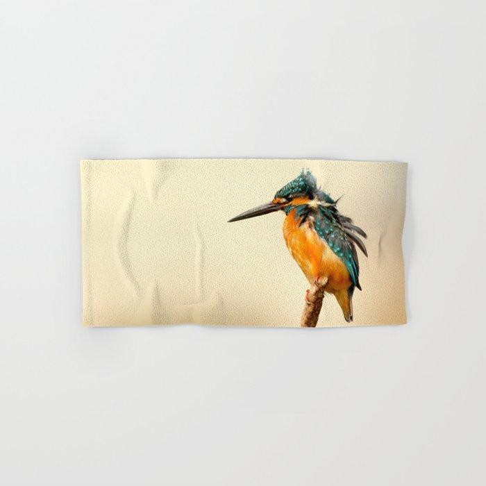 Kingfisher Bird Hand & Bath Towel