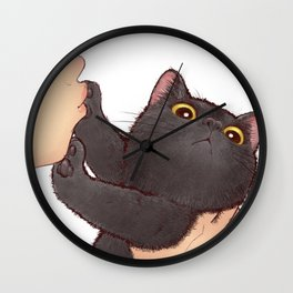 cat : huuh Wall Clock