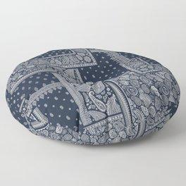 PATCHWORK BANDANA PRINT IN NAVY & WHITE Floor Pillow