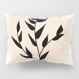 Black Plant Pillow Sham