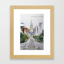 View of JFK BLVD, Philadelphia Framed Art Print