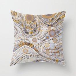 CASABLANCA a bohemian design using soft earth tones Throw Pillow