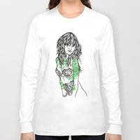 tattoos Long Sleeve T-shirts featuring Tattoos by Maia Fjord