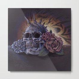 SkullRose Metal Print