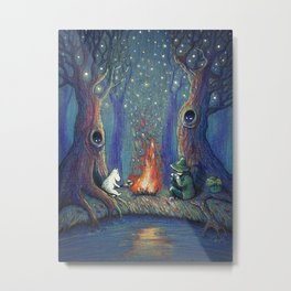 Moomin's night Metal Print