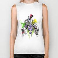 lungs Biker Tanks featuring Lungs by Nadia Cruikshanks