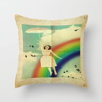 dorothy Throw Pillows featuring Dorothy by Robin Curtiss