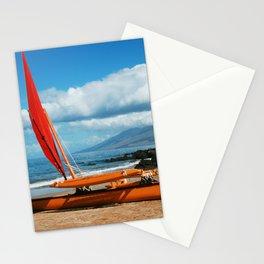 Hina Wāʻapea Sailing Canoe  Polo Beach Wailea Maui Hawaii Stationery Cards