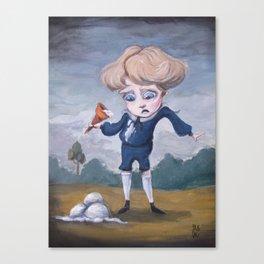 Boring Blue Boy Canvas Print