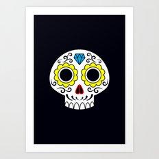 Sugar skull for a cake Art Print