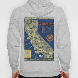 CALIFORNIA University map MAP Berkeley Hoody
