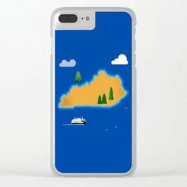 Kentucky Island Clear iPhone Case