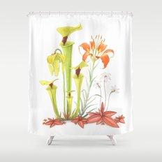 My Pitcher Plant Bog Shower Curtain