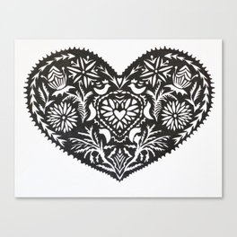 WYCINANKI HEART  Canvas Print