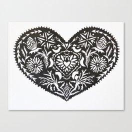 WYCINANKI HEART  Canvas Print