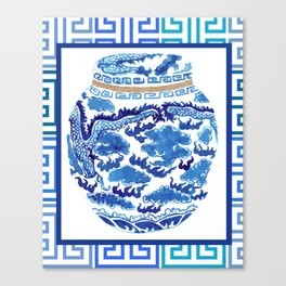 Chinoiserie Ginger Jar No. 2 Canvas Print
