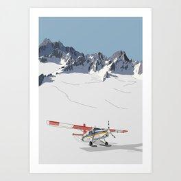 Tasman Glacier, New Zealand Art Print