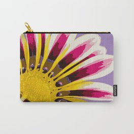 Bright Daisy Illustrated Print Carry-All Pouch