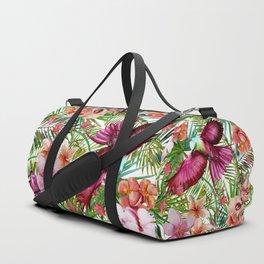 Aloha - Tropical Jungle Bird, Butterfly and Flowers Garden Duffle Bag