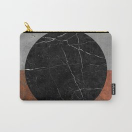 Abstract - Marble, Concrete, Rusted Iron Carry-All Pouch