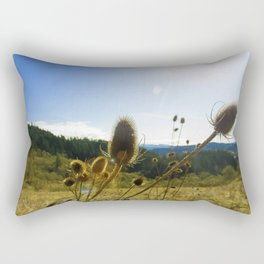 Colorful Winter Day Rectangular Pillow