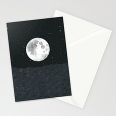 Grey Moonscape Stationery Cards