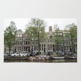 Abstract Amsterdam Boat Art Rug