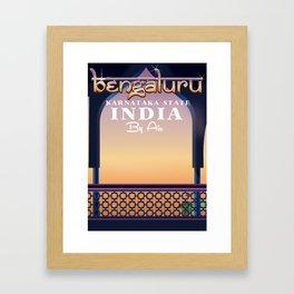 Bengaluru India travel poster Framed Art Print