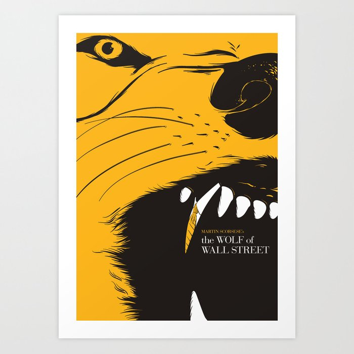 The Wolf of Wall Street | Fan Poster Design Art Print by rool | Society6