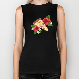 Hawaiian Pizza in a Hawaiian Print Biker Tank