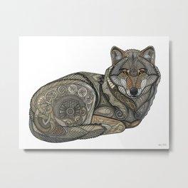 Norse Wolf Metal Print