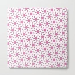 Damascus Motif Rose Palette Metal Print