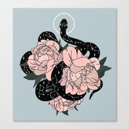 Celestial Snake in Blue Original by Moon Goddess Market Canvas Print