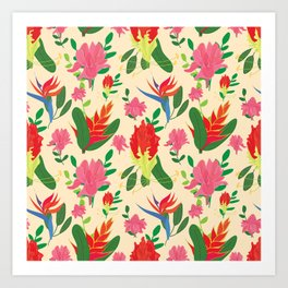Tropical afternoon Art Print