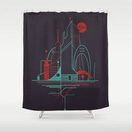From the Subway to the Sky (at Night) Shower Curtain