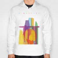 singapore Hoodies featuring Shapes of Singapore. by Glen Gould