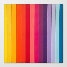 vertical lines colors Canvas Print