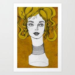 Yellow turned Art Print